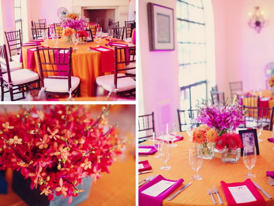 Runway Fashions About Weddings: Fall Wedding Color - Orange & Pink