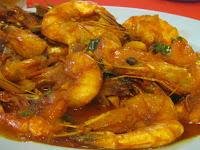 jumbo prawns shrimp Malaysian food