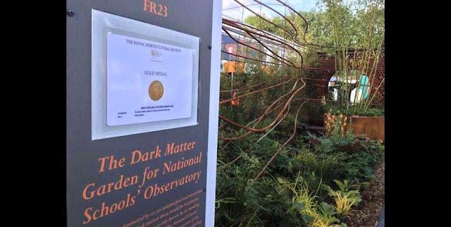 The Dark Matter garden gets gold at the Chelsea Flower Show (Credit: Landstruction Ltd)