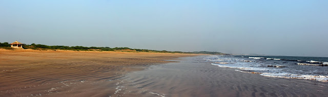 wide expanse of beach