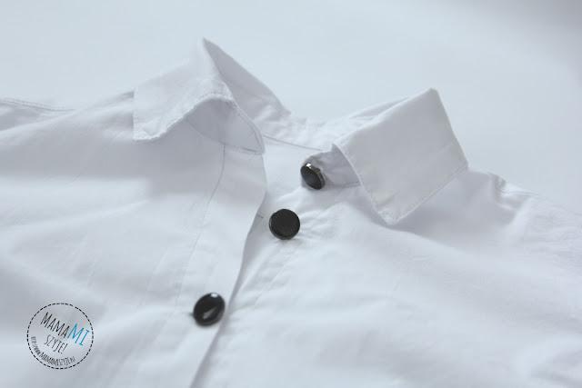 szycie damskiej koszuli, na guziki, zapięcie, z kołnierzykiem