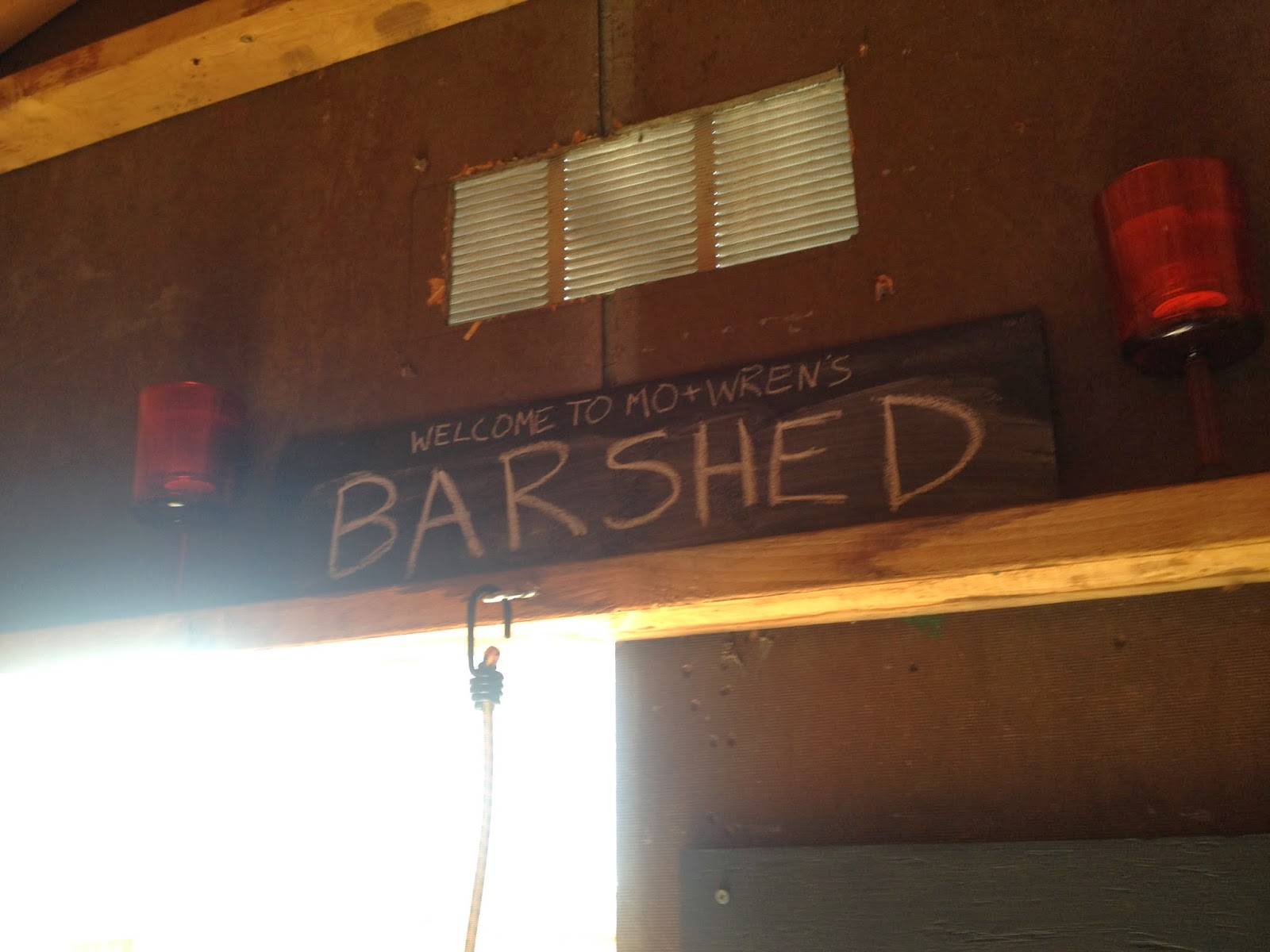 the barshed: shed into bar with loft- sign