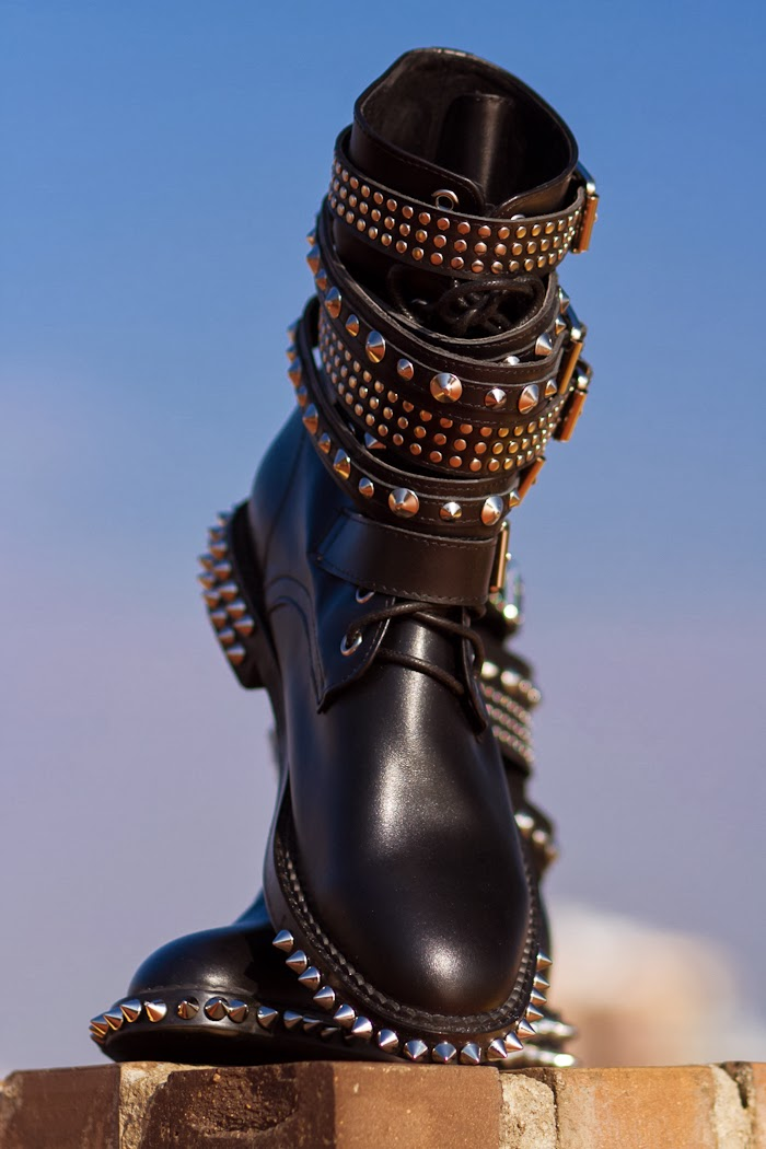 Saint Laurent Inspired Spiked Rock Boots