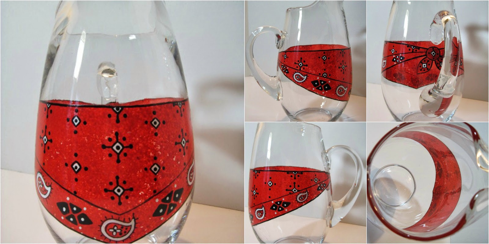 Bandanna Painted Pitcher via Kudos Kitchen By Renee