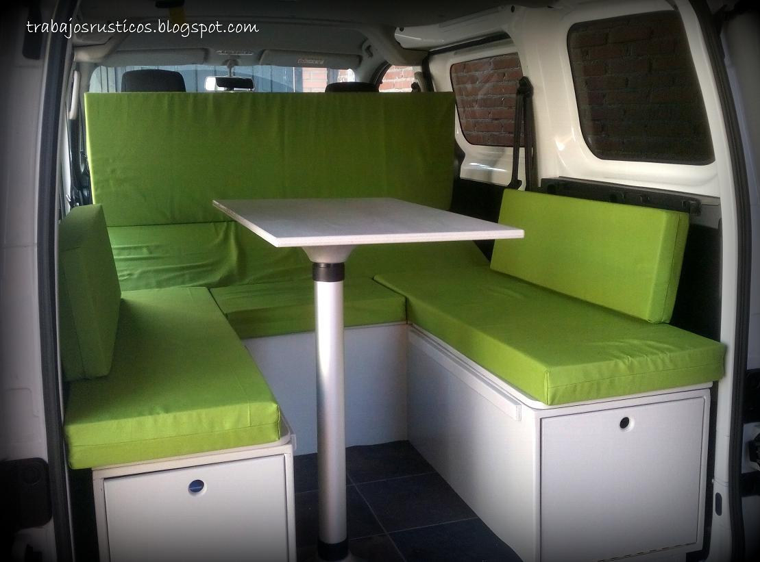 trabajos r sticos modulo camper nissan nv200. Black Bedroom Furniture Sets. Home Design Ideas