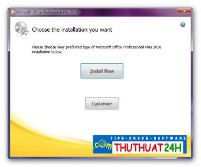 Hướng dẫn cài đặt và crack Microsoft Office Professional Plus 2010
