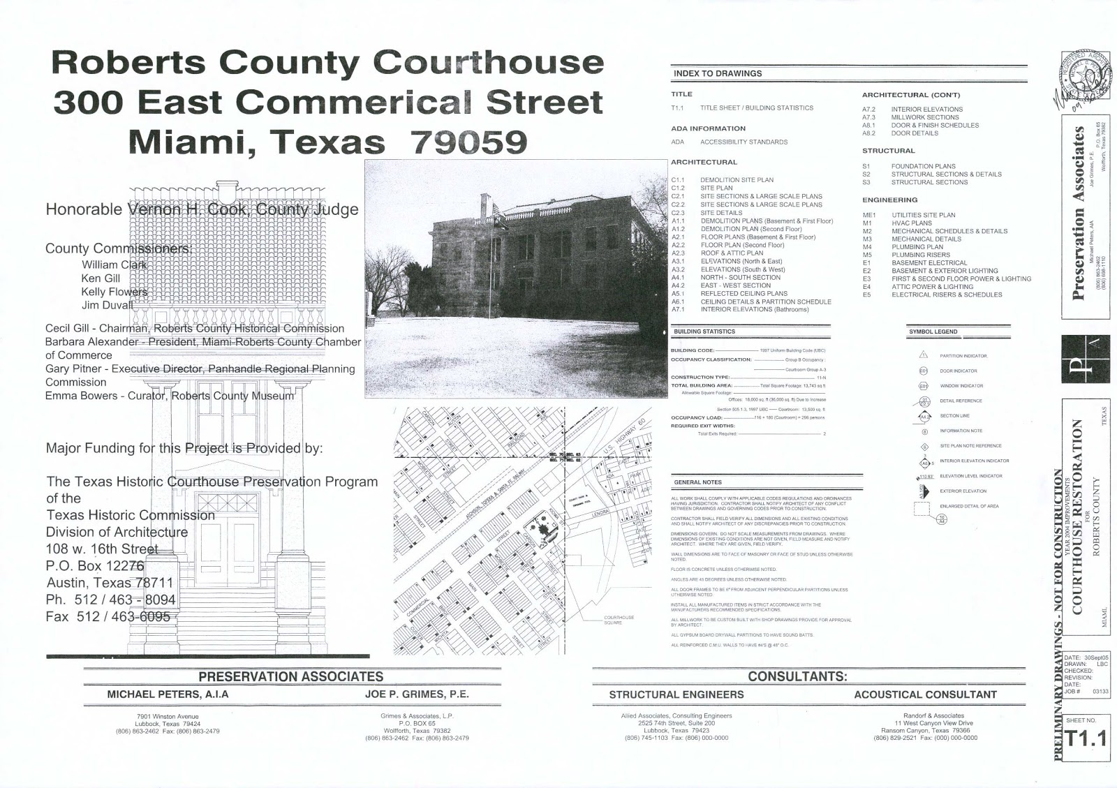 Construction Documents Spring 2013 Title Sheet