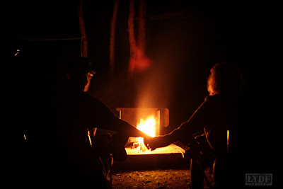 fire, open lens, honeymoon, camping, holding hands