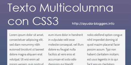 Crear columnas de texto sólo con CSS3