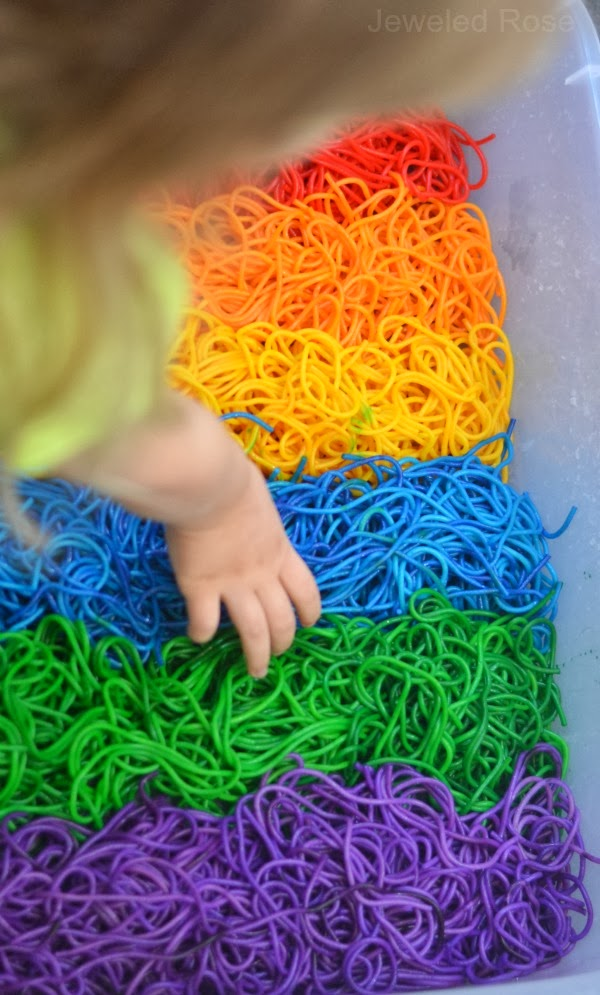 BEAUTIFUL Rainbow sensory play - Colorful squishy FUN!