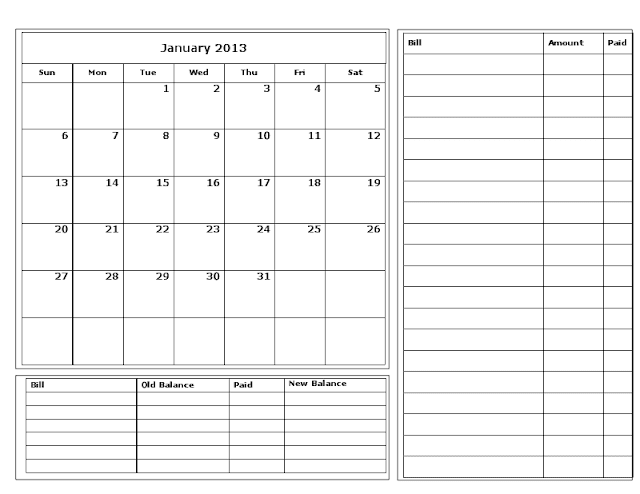 ... png 11kB, Free Printable Bill Calendar | New Calendar Template Site