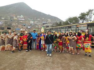 Recreación del encuentro entre los Collis e Incas