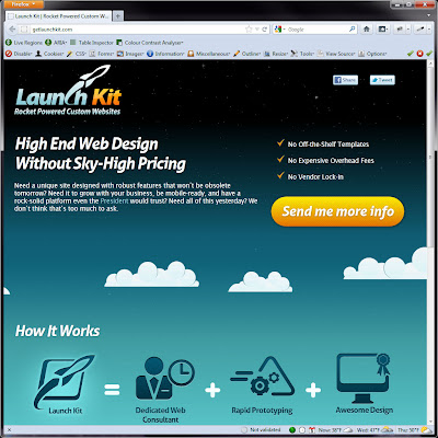 Screen shot of http://getlaunchkit.com/.