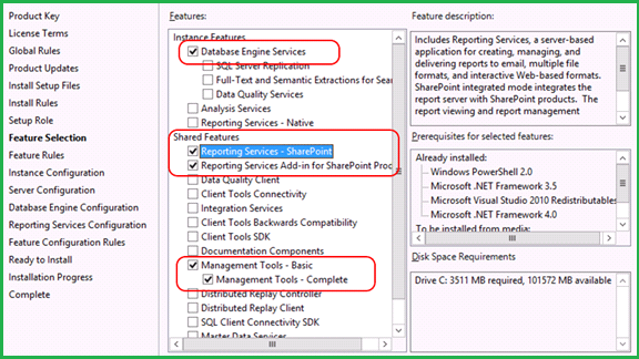 install sql server reporting services powershell