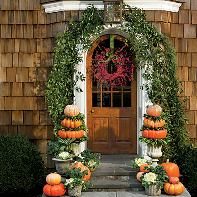 Five fabulous fall porches the cottage market Beautiful fall front porches