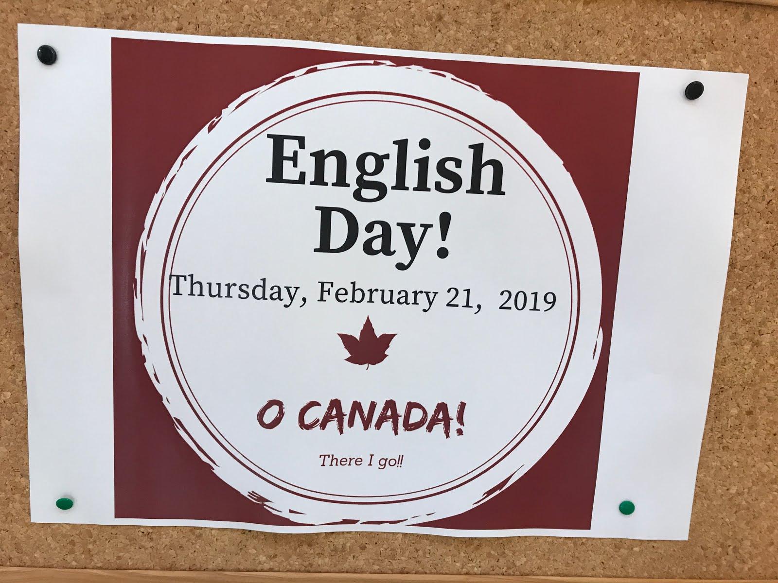 ENGLISH DAY!