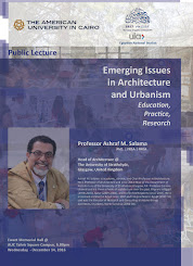 Public Lecture at the American University in Cairo, Emerging Issues in Architecture and Urbanism