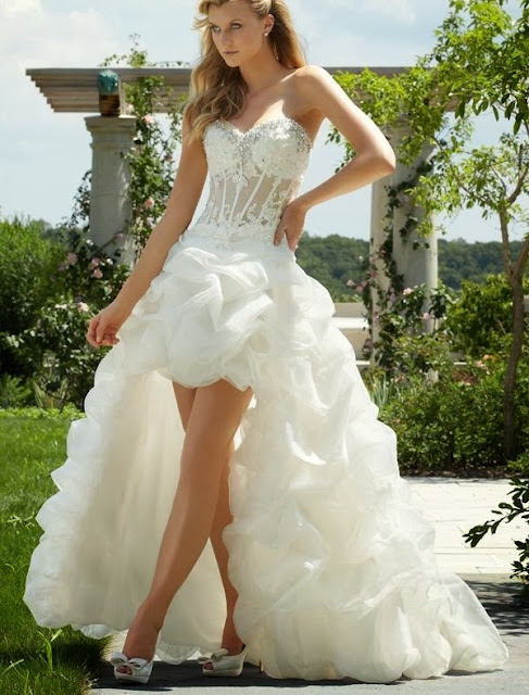 hi-lo wedding dress