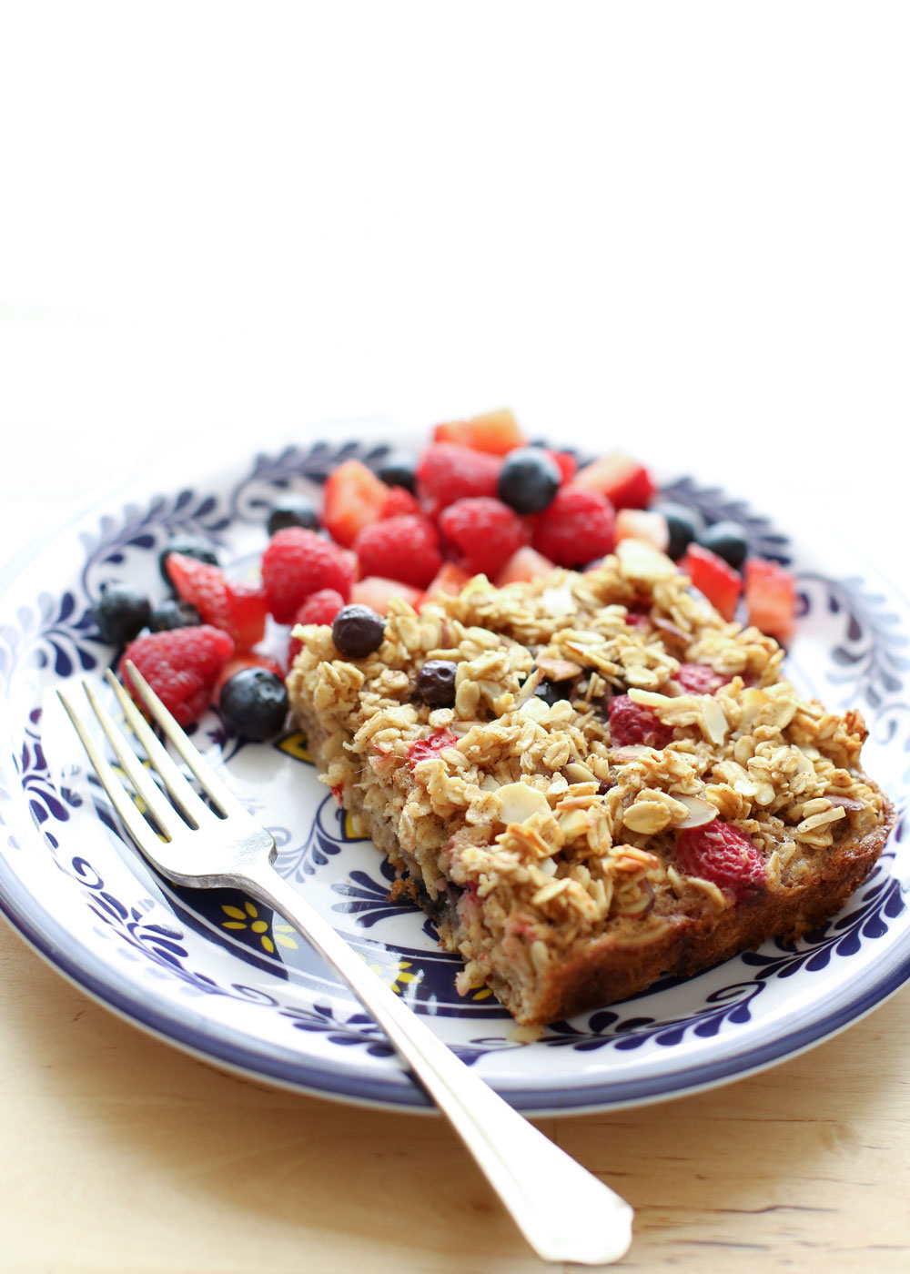 Summer Berries Baked Oatmeal recipe by Barefeet In The Kitchen