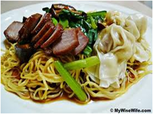 wonton mee wonton noodles chinese noodles with chinese dumplings ...
