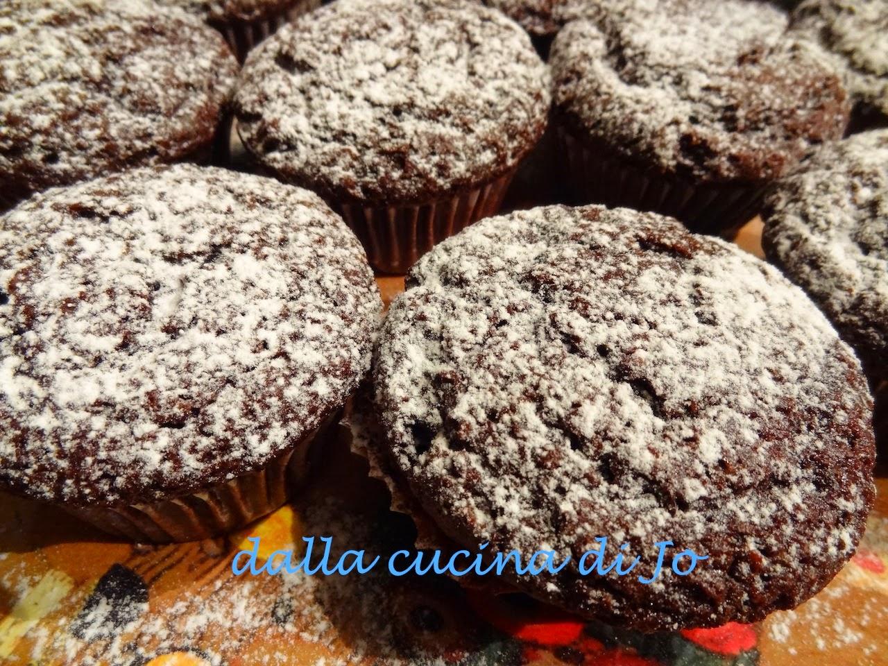 muffins al cacao con maionese
