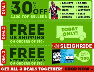 Click here to check out the Cyber Monday sale at SuperHeroStuff!