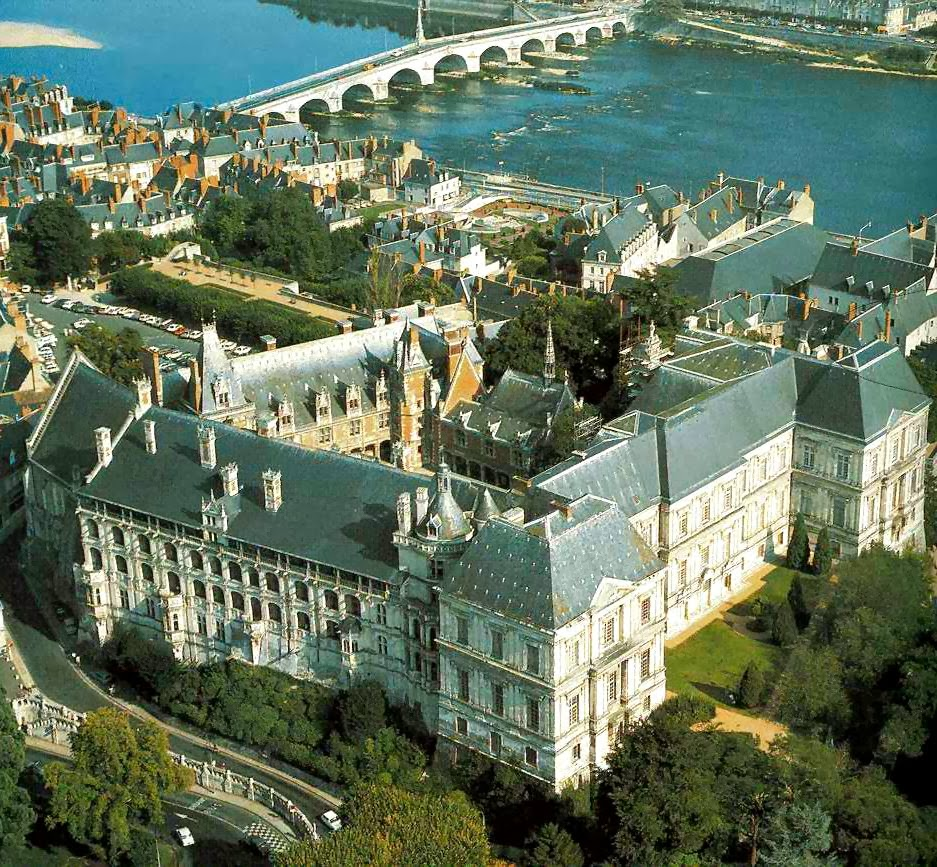 Vista aérea do castelo de Blois