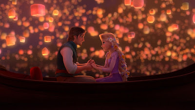 Disney animated movie Tangled Eugene and Rapunzel
