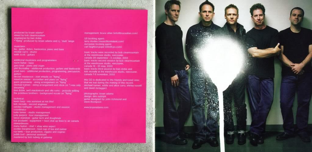 Encartes Pop: Encarte: Bryan Adams - Room Service