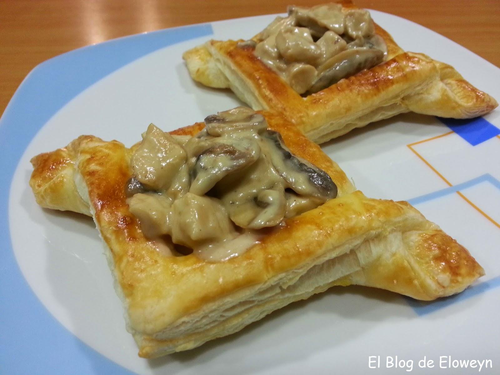 Tartaletas de hojaldre rellenas de pollo y champi ones al - Hojaldre de puerros y gambas ...
