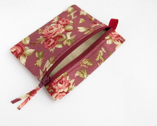 pink roses coin purse, розы, кошелек
