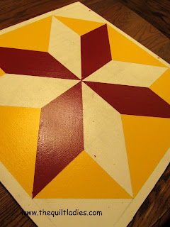 painting a barn quilt