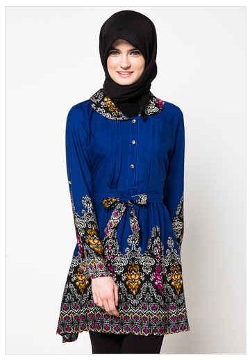 10 Model Baju Batik Kerja Guru Muslimah Paling Trend