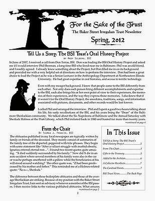 BSI Trust Spring 2012 Newsletter
