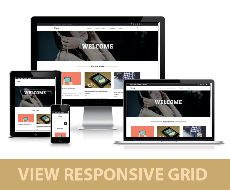 View Grid Responsive Blogger Template