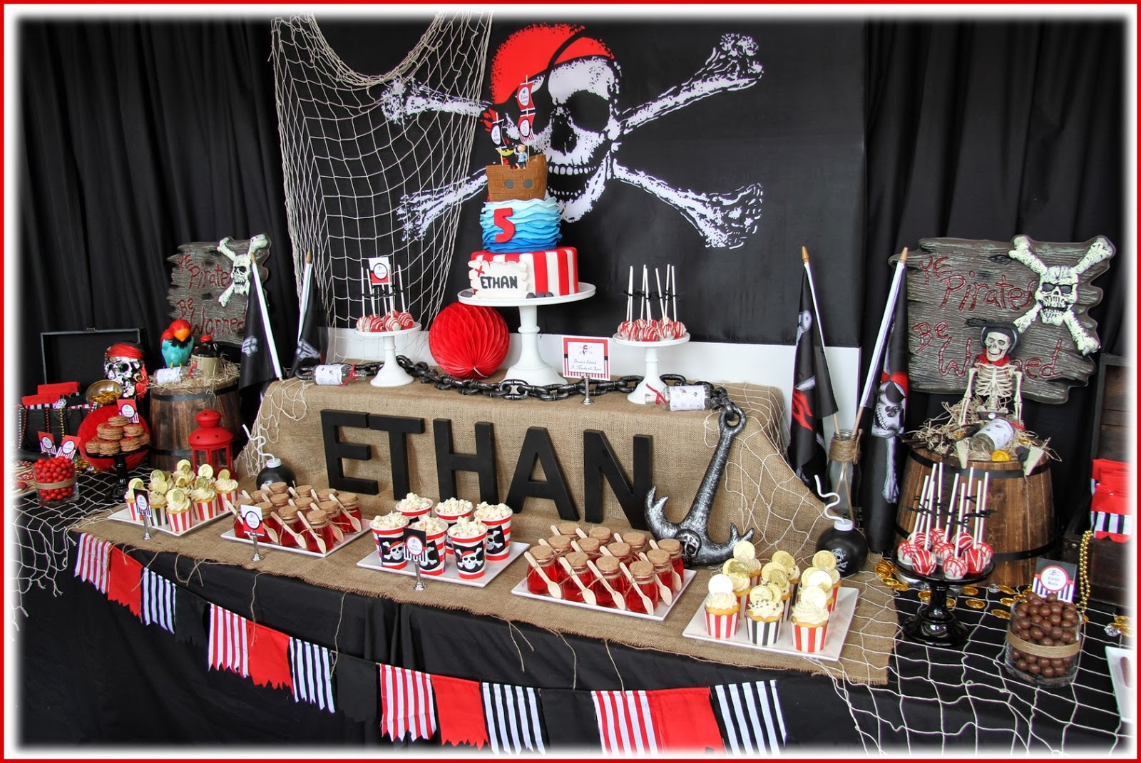 Leonie 39 s cakes and parties pirate party - S party theme decorations ...
