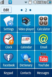 General Facebook Samsung Corby 2 Theme Menu