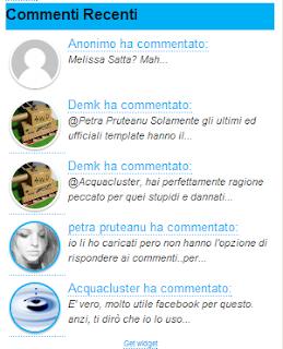 Commenti Recenti con miniatura avatar