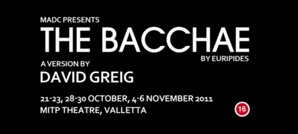 MADC's THE BACCHAE