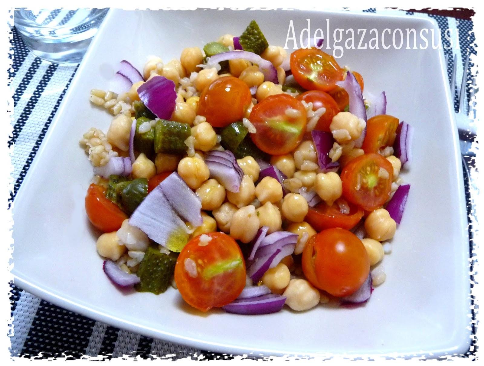 Recetas light adelgazaconsusi ensalada de garbanzos y - Ensalada de arroz light ...