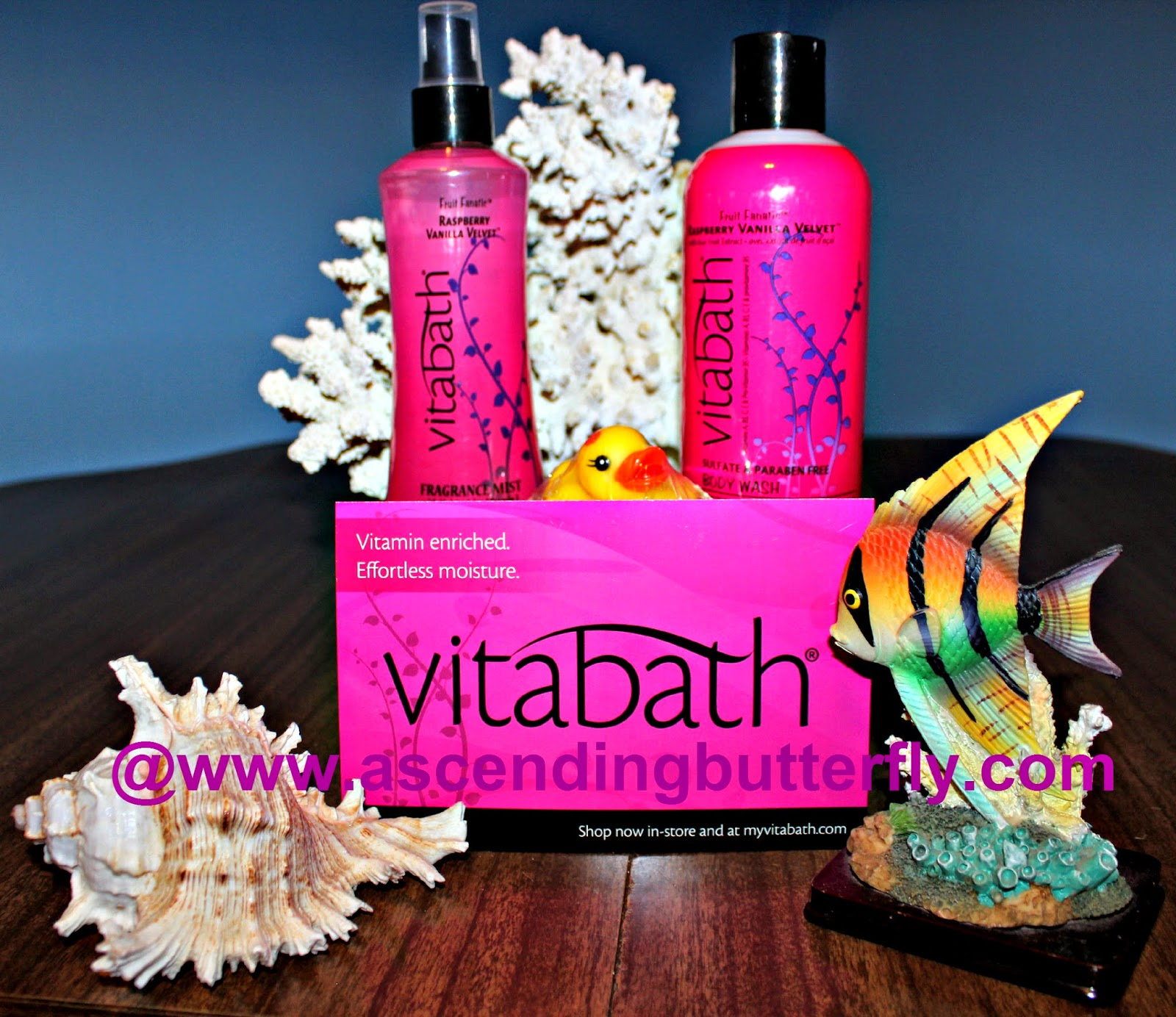 Vitabath #FruityFresh Spring Scents Raspberry Vanilla Velvet Body Wash and Fragrance Mist