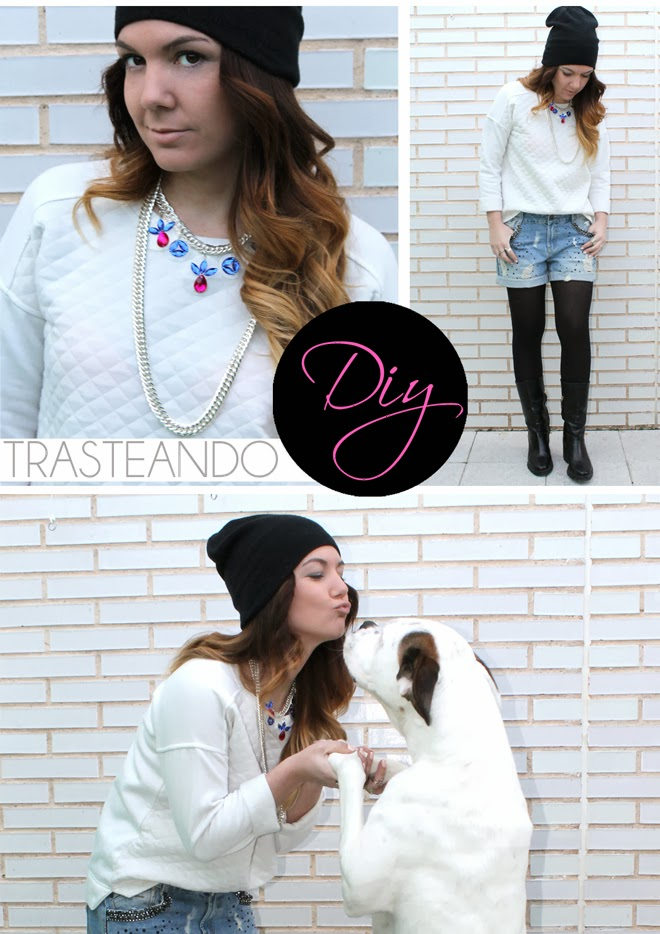 DIY COLLAR PVC DE BRILLOS