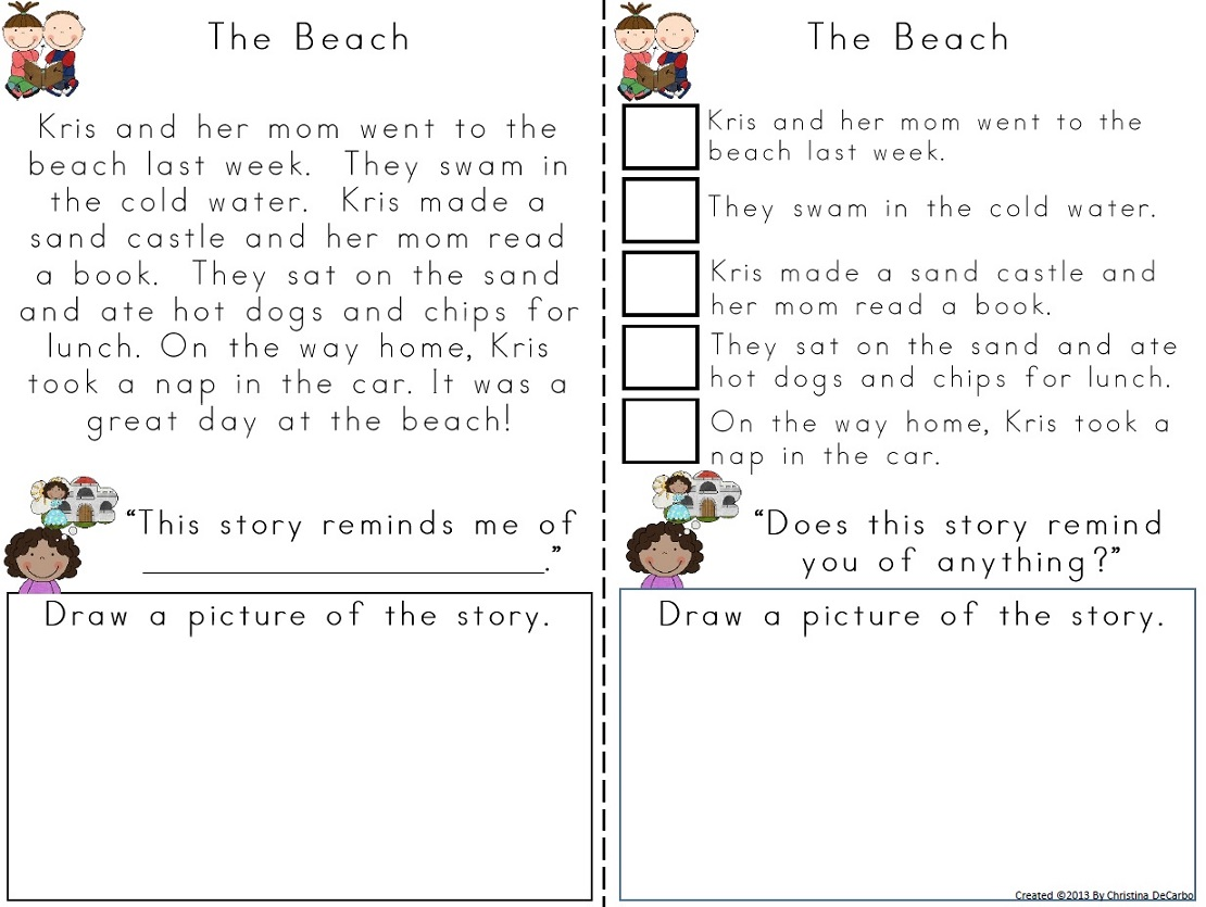 Worksheets 2nd Grade Stories homework story
