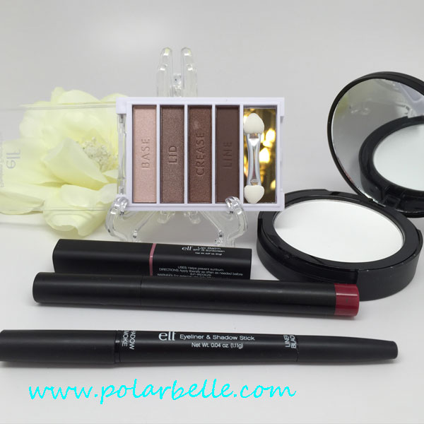 Elf shadow stick, lip balm, matte lip pencil, review, samples