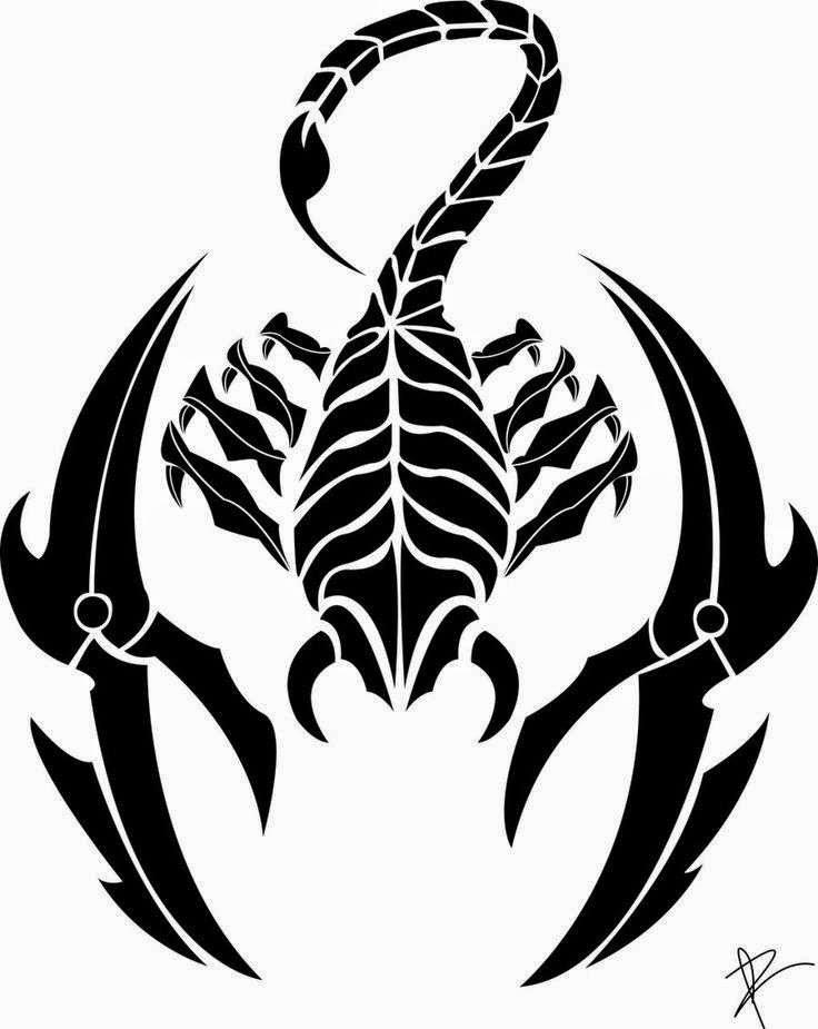 Diseño Tatuaje tribal signo Escorpion 14