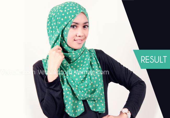 Gambar Tutorial Hijab Formal   newhairstylesformen2014.com