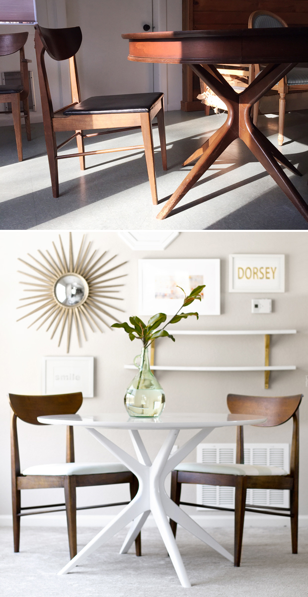Modern Table Chairs Part - 49: Sarah M. Dorsey Designs: Mid Century Modern Table And Chairs | Before +  After