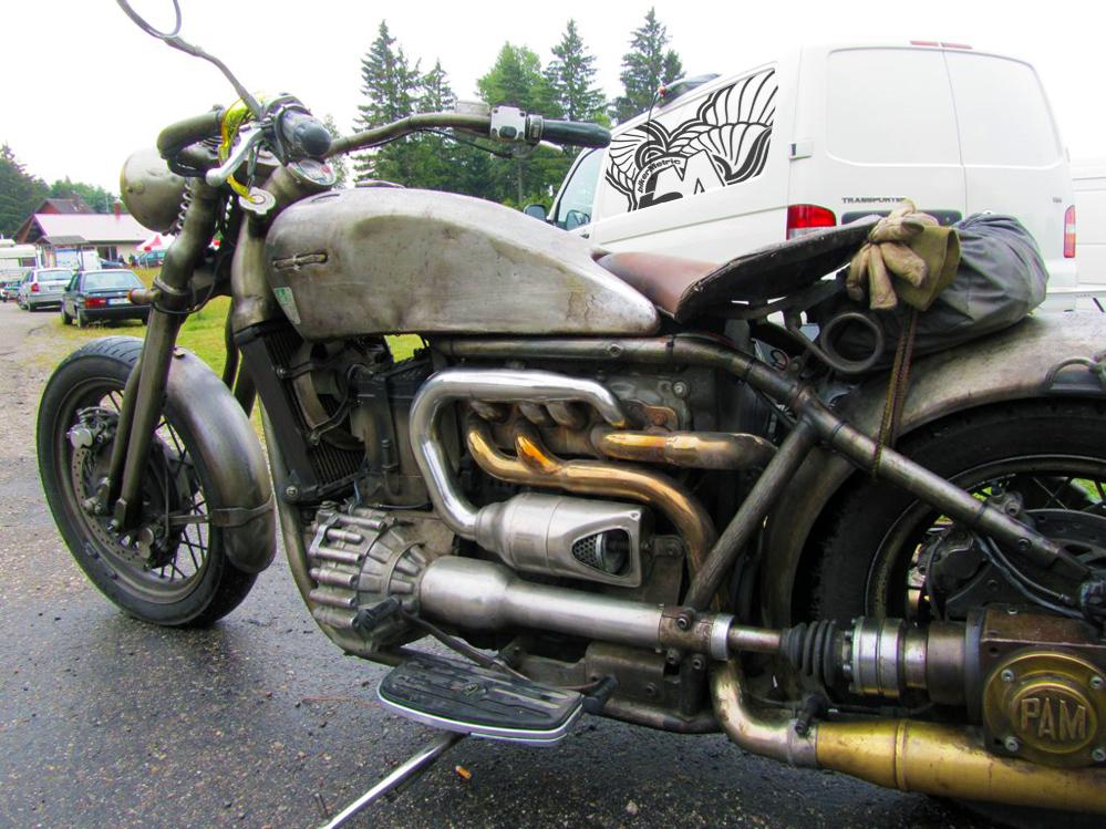 custom volkswagen turbo diesel motorcycle | photo by bigzark