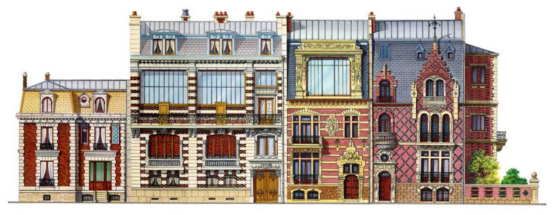 Tiziano perotto illustrator paesaggi e altre architetture for Nuove case vittoriane