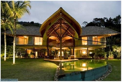 Menarik Reka Bentuk Bumbung Rumah Ini Seperti Daun